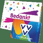 VVV Cadeaukaart met bedankt omslag