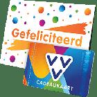 VVV Cadeaukaart met gefeliciteerd omslag