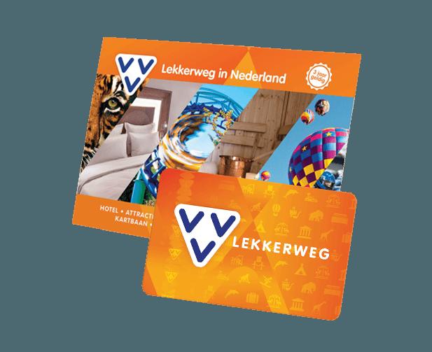 VVV Cadeaukaarten - Producten - Koop de VVV Lekkerweg, dé belevenis cadeaukaart