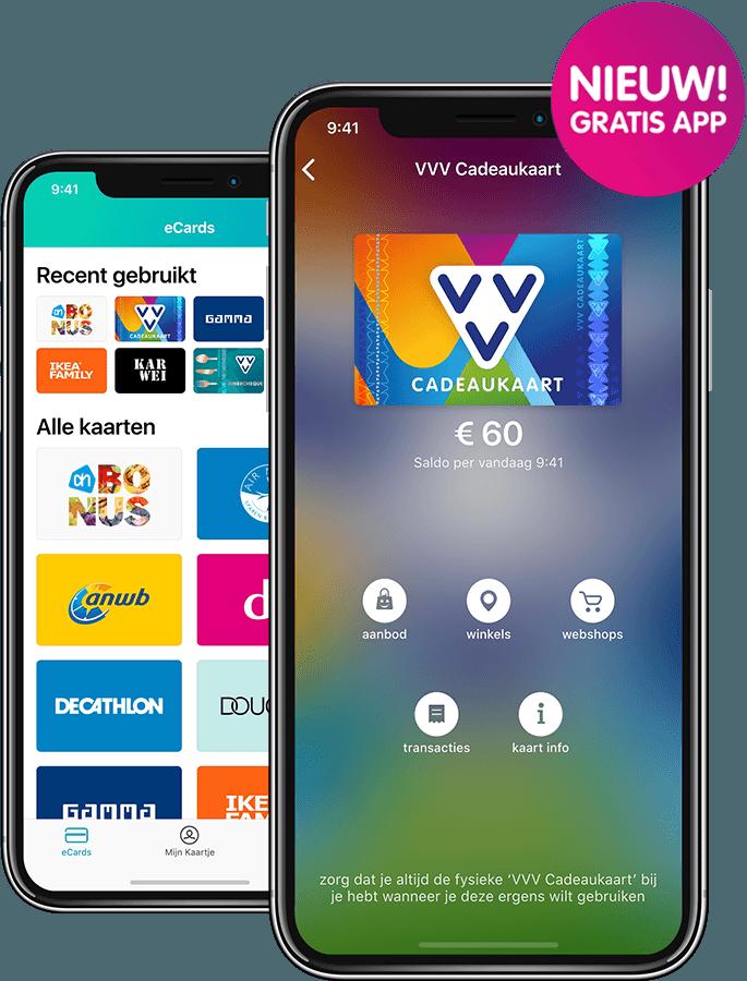 VVV Cadeaukaarten - Saldo checken - Dappre app