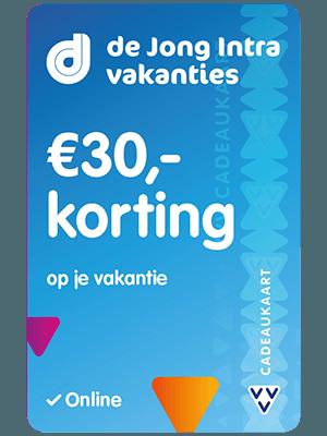 VVV Cadeaukaarten - Acties - Verrassend Veel Voordeel - De Jong Intra Vakanties