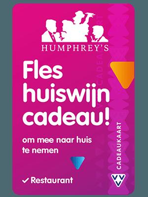 VVV Cadeaukaarten - Acties - Verrassend Veel Voordeel - Humphrey's