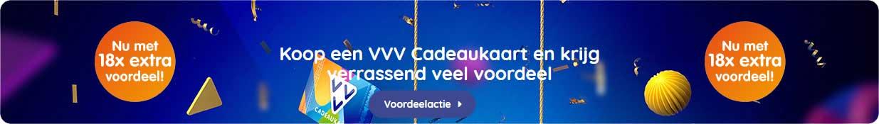 VVV Cadeaukaarten - Acties - Verrassend veel voordeelactie