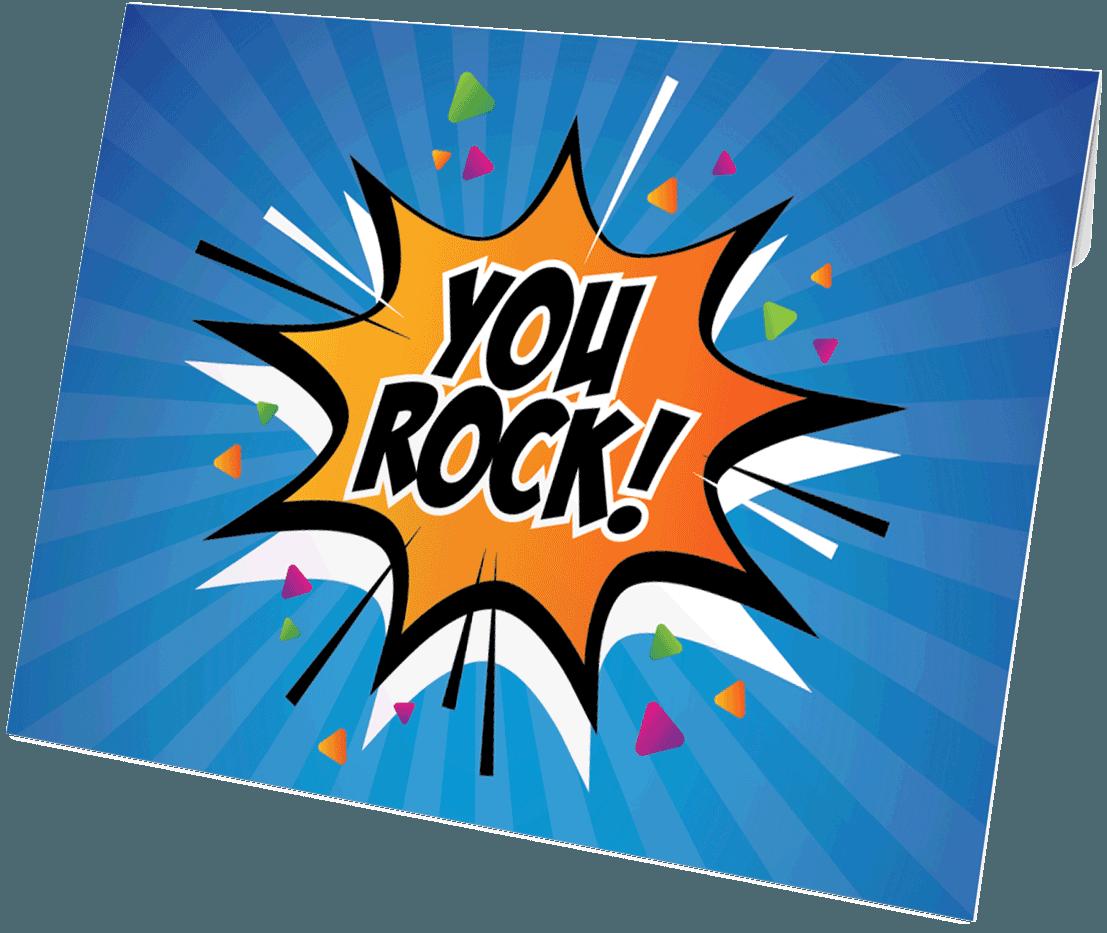 You Rock envelop