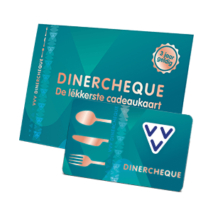 VVV Dinercheque kaart met omslag schuin