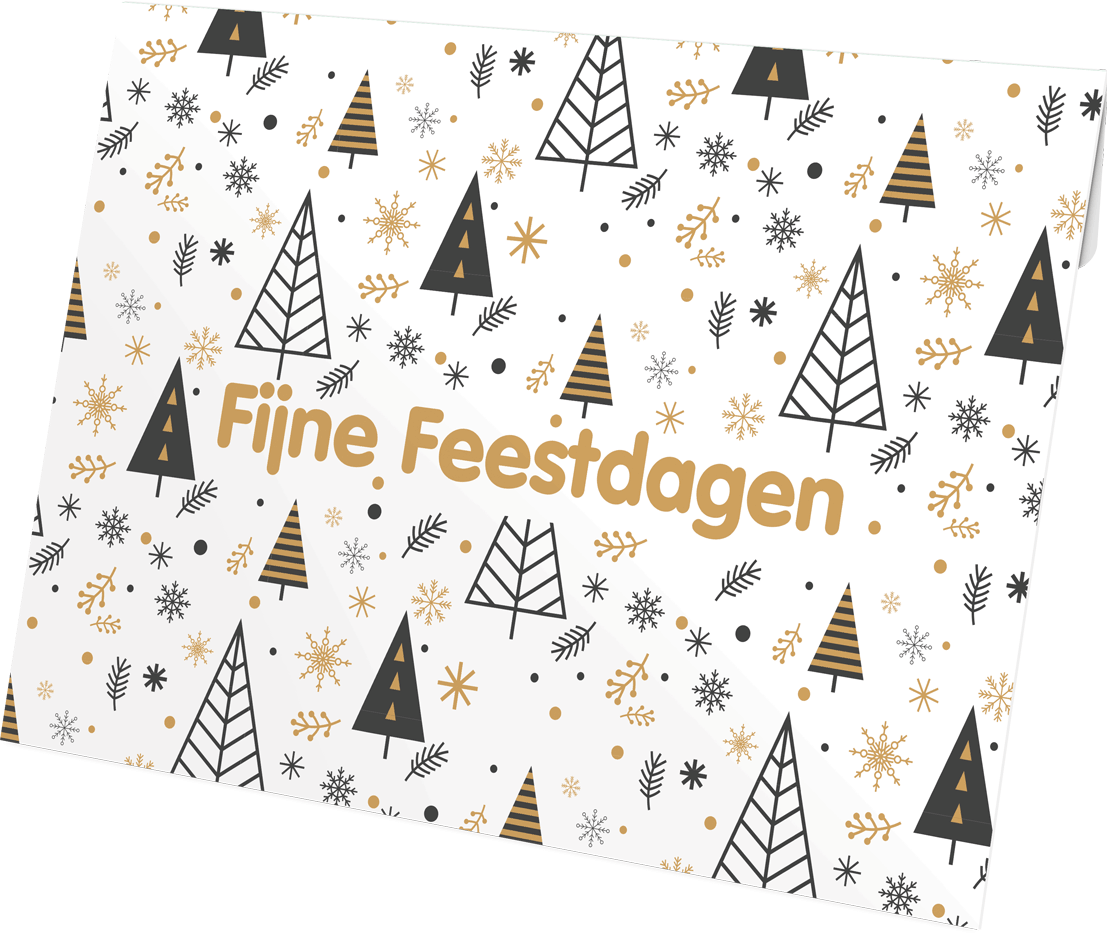 Fijne feestdagen envelop