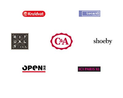 Kruidvat, Lucardi, Rituals, C&A, Shoeby, Open 32, ICI Paris XL