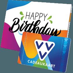 Wil je iemand bedanken geef dan de VVV Cadeaukaart Happy Birthday