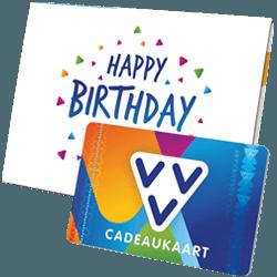 Wil je iemand bedanken geef dan de VVV Cadeaukaart Happy Birthday to you