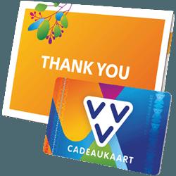 Wil je iemand bedanken geef dan de VVV Cadeaukaart thank you