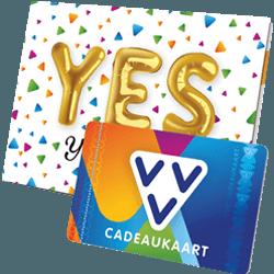 Wil je iemand bedanken geef dan de VVV Cadeaukaart Yes