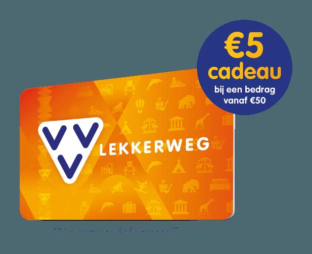 Krijg €5,- cadeau bij een aankoopbedag vanaf €50,-