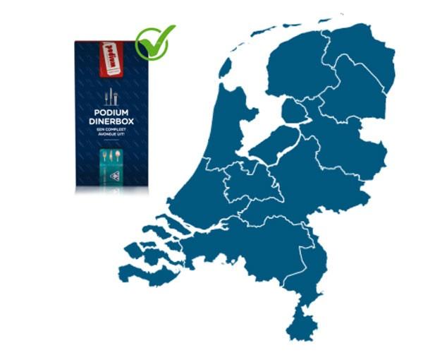 Podium Dinerbox te besteden door heel Nederland