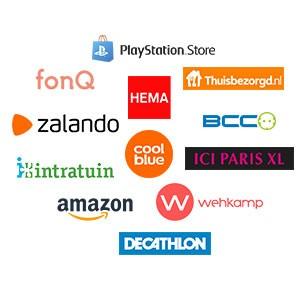 VVV Cadeaukaarten besteden bij Bol.com, Zalando, de Bijenkorf, Coolblue, Amazon