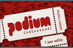 Wissel je VVV Cadeaukaart om voor een Podium Cadeaukaart, hét cadeau voor theater & concerten