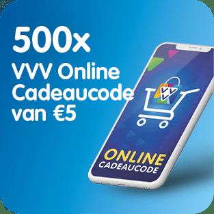 VVV Online Cadeaukaart stelt 500 keer een online cadeaucode ter beschikking voor het Prijzenfestival