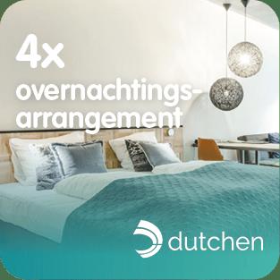 Dutchen stelt 4 keer een overnachtingsarrangement ter beschikking voor het Prijzenfestival