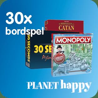Planet happy stelt 30 keer een bordspel ter beschikking voor het Prijzenfestival