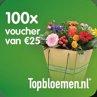 Topbloemen.nl stelt 100 vouchers van €25,- ter beschikking voor het Prijzenfestival
